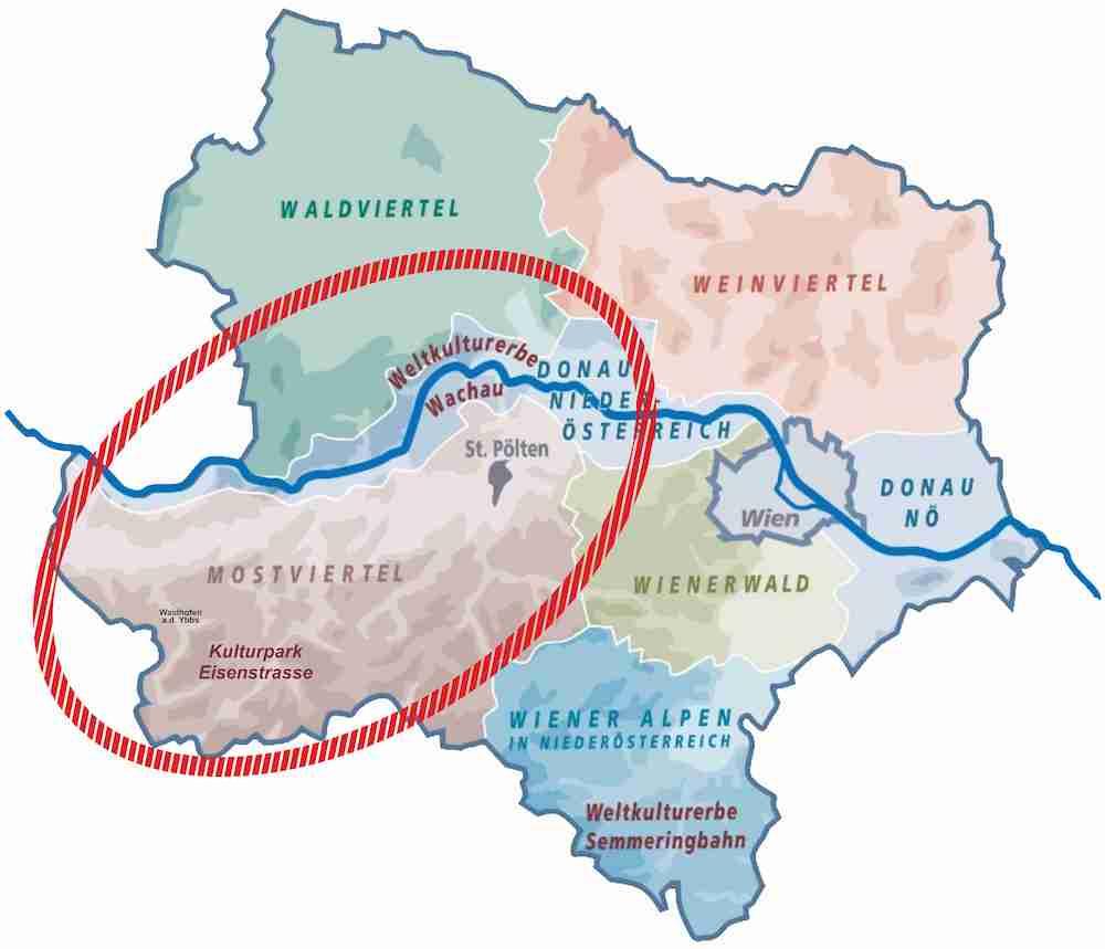 Mostviertel Map